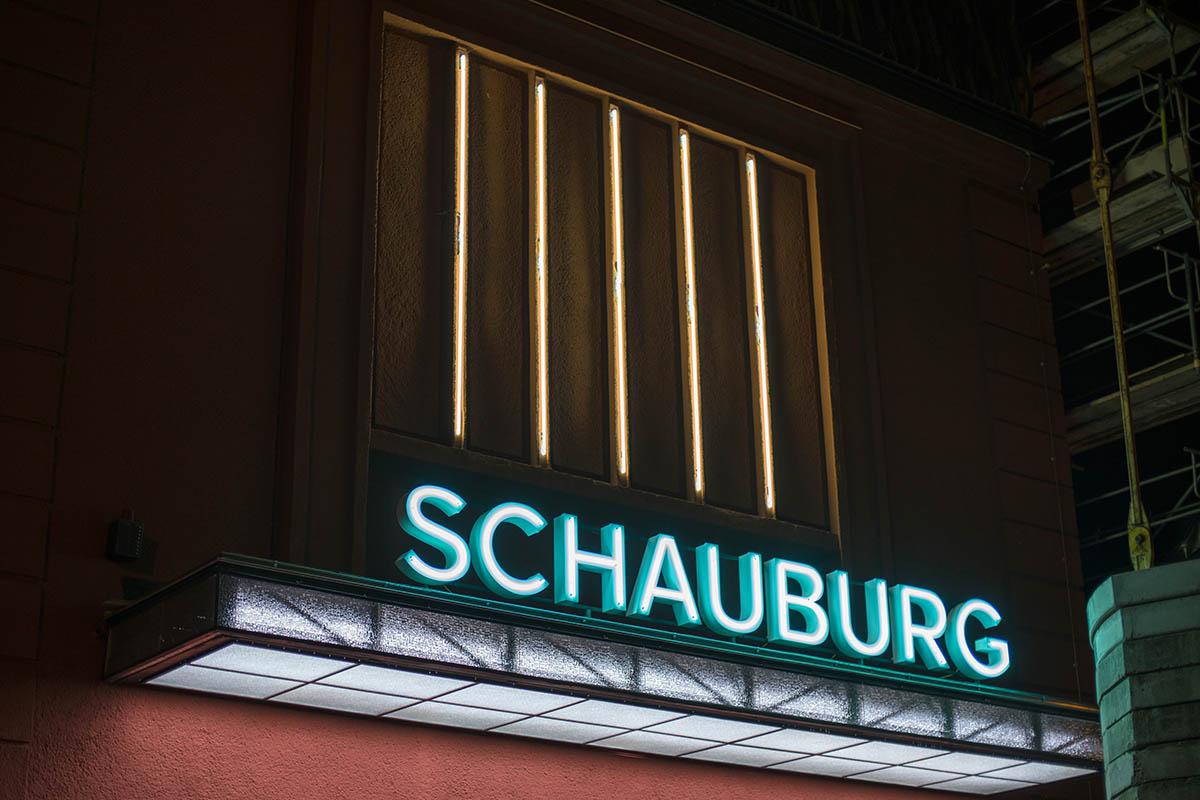 Werbetechnik Lichtwerbung Neon Filmtheater Schauburg Dresden