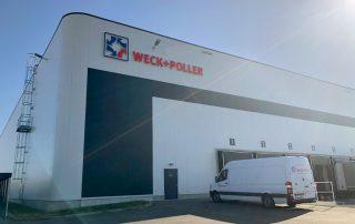 Werbetechnik Lichtwerbung Weck+Poller Gewerbegebiet Ottendorf